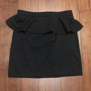 Black Peplum Skirt, Size 6 American Eagle